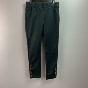Soft Surroundings Metro Pants Pull On Ankle Snaps